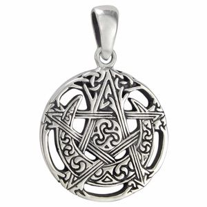 Moon Pentacle solid Sterling Silver